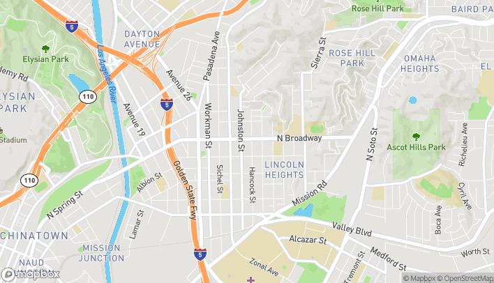 Mapa de 3016 N Broadway en Lincoln Heights