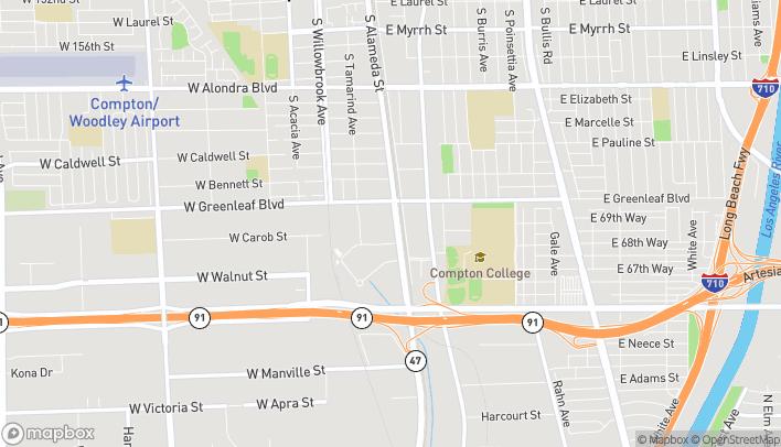Mapa de 1633 S. Alameda en Compton