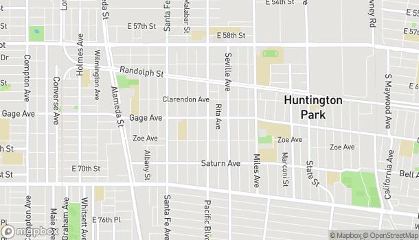 Mapa de 6402 Pacific Blvd en Huntington Park