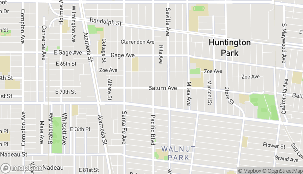 Map of 6833 Pacific Blvd in Huntington Park
