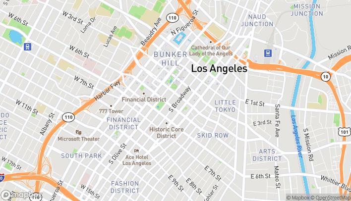 Mapa de 425 S Broadway en Los Angeles