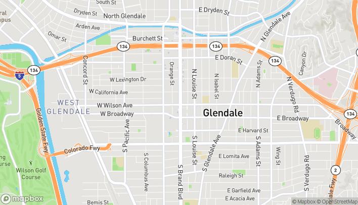 Map of 207 N Brand in Glendale