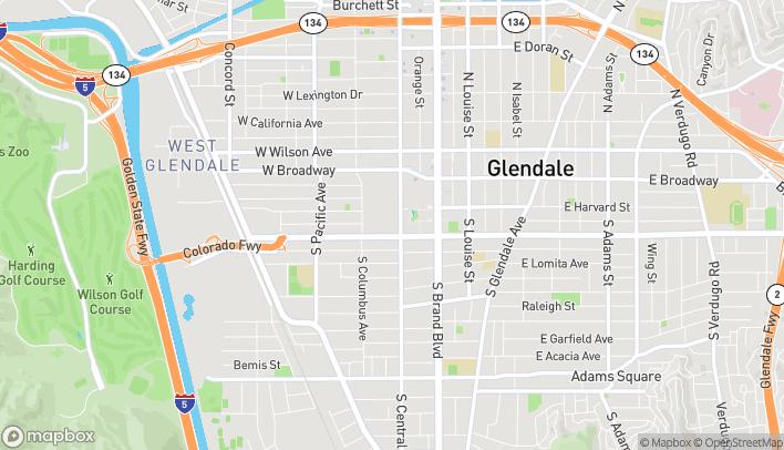 Mapa de 2190 Glendale Galleria en Glendale