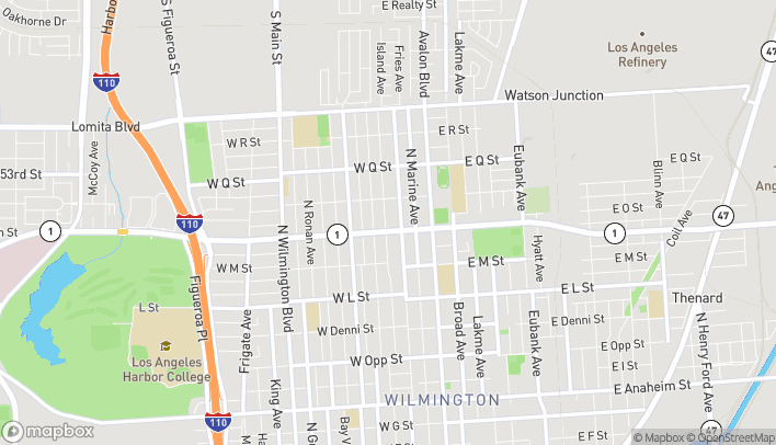 Map of 317 W Pacific Coast Hwy in Wilmington
