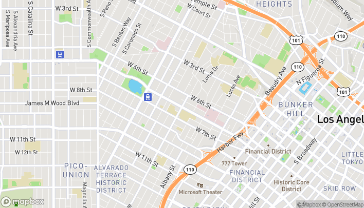 Map of 1605 Wilshire Blvd in Los Angeles