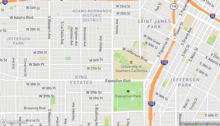 Mapa de 3625 Vermont Avenue en Los Angeles