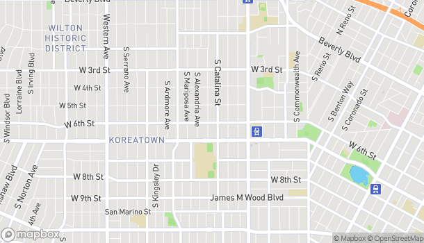 Mapa de 3419 W 6th Street en Los Angeles