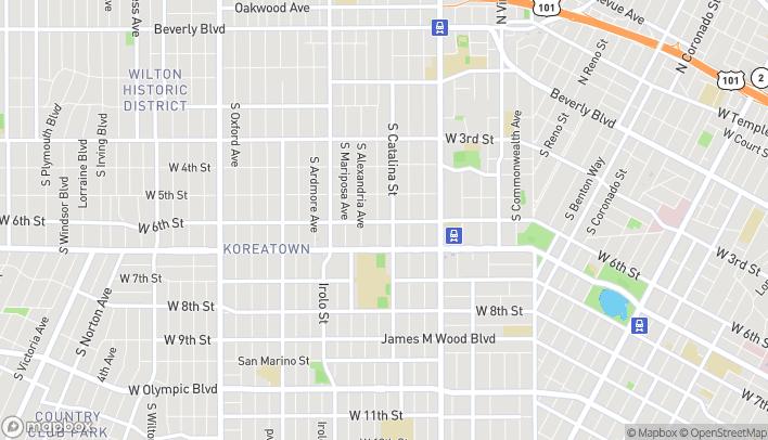 Mapa de 3419 W 6th Street en Los Angeles