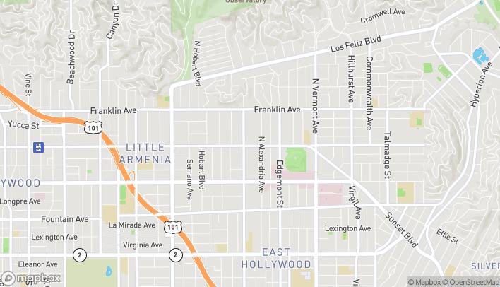 Mapa de 5065 Hollywood Blvd en Los Angeles