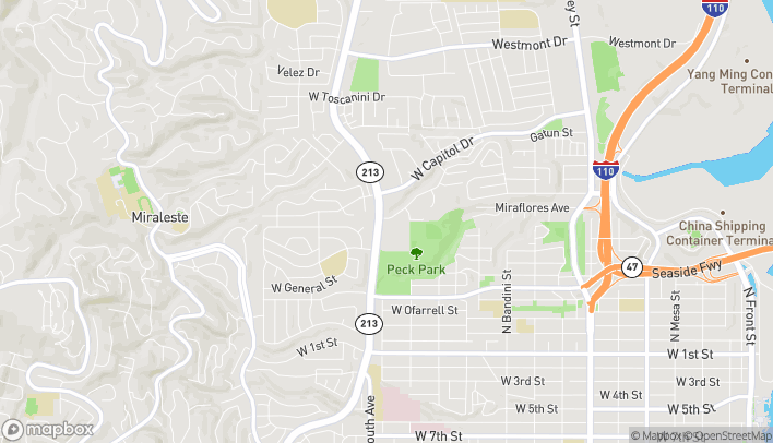 Map of 980 N Western Ave in San Pedro