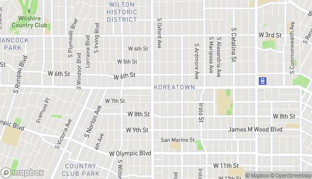 Mapa de 3764 Wilshire Blvd en Los Angeles