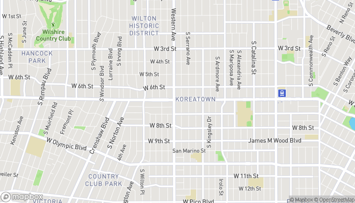 Map of 3764 Wilshire Blvd in Los Angeles