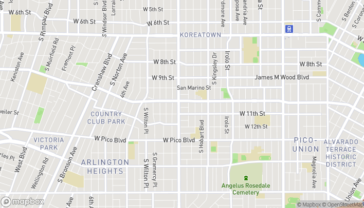 Map of 3250 W. Olympic Blvd. in Los Angeles