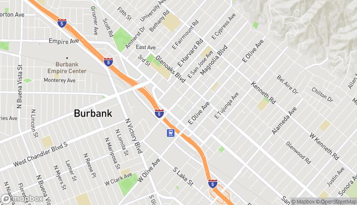Map of 201 E Magnolia Blvd in Burbank