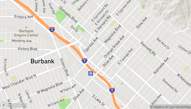 Mapa de 350 N San Fernando Blvd en Burbank