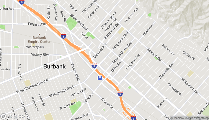 Map of 350 N San Fernando Blvd in Burbank