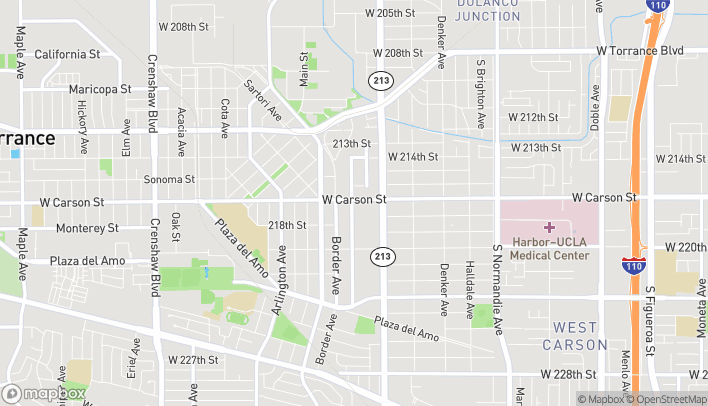 Map of 1790 W Carson St in Torrance