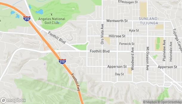 Mapa de 8530 Foothill Blvd en Sunland