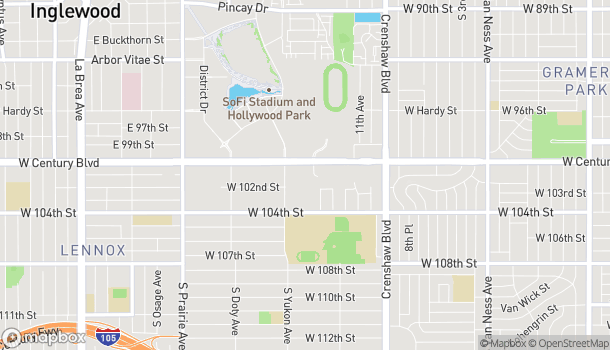 Map of 3530 W Century Blvd in Inglewood