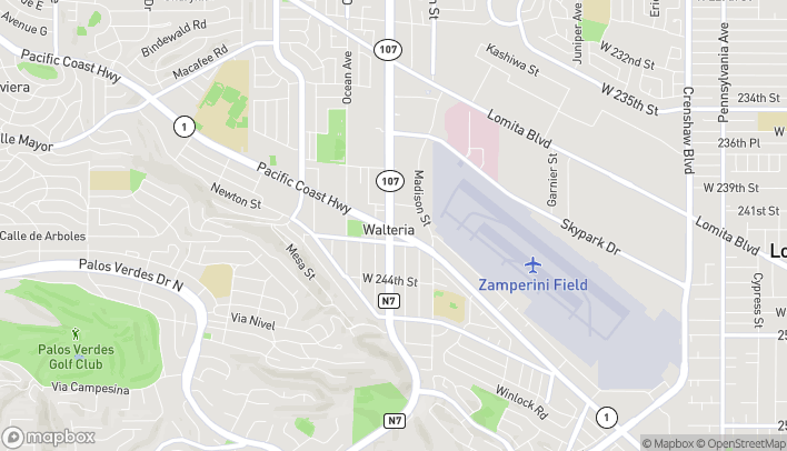 Map of 3737 Pacific Coast Highway in Torrance