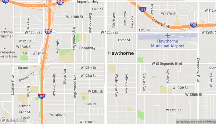 Mapa de 12770 Hawthorne Blvd en Hawthorne