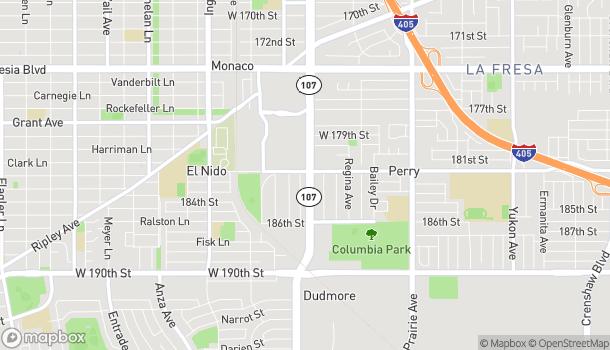 Mapa de 18201 Hawthorne Blvd en Torrance