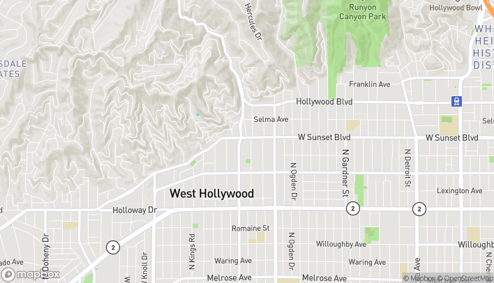 Map of 8000 W Sunset Blvd in Los Angeles