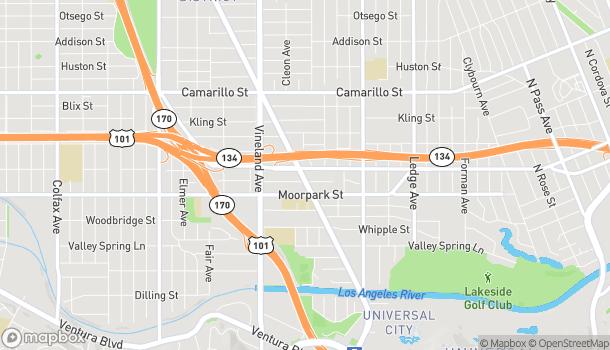 Mapa de 4444 Lankershim Blvd en North Hollywood