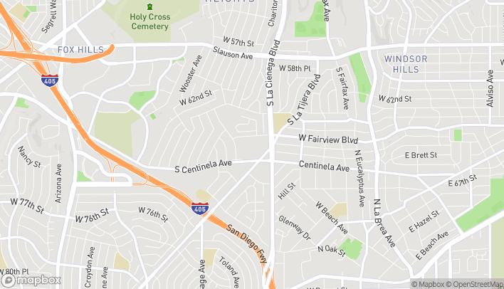 Mapa de 5323 W Centinela Ave en Los Angeles