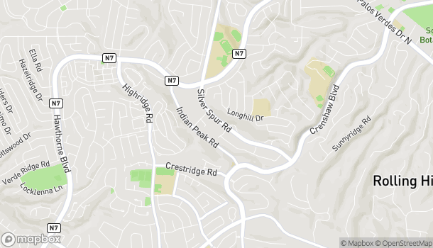Map of 550 Deep Valley Dr in Rolling Hills Estates