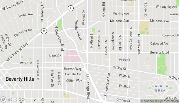 Mapa de 8471 Beverly Blvd en Los Angeles