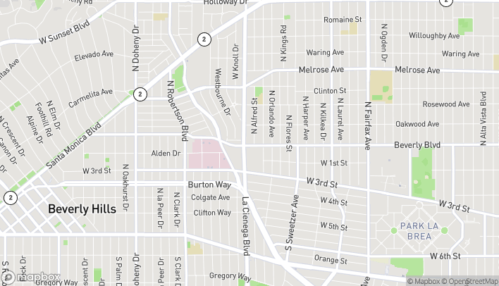 Map of 8471 Beverly Blvd in Los Angeles