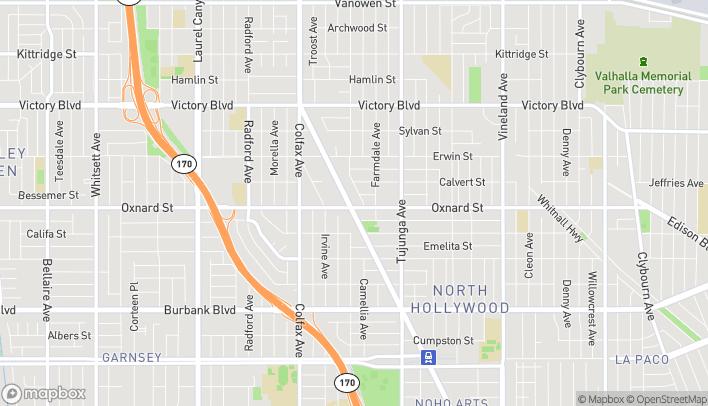 Mapa de 6000 Lankershim Blvd en North Hollywood