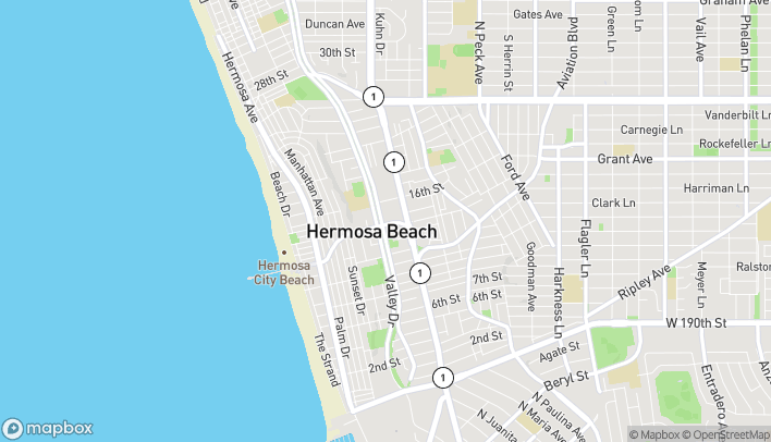 Map of 703 Pier Ave in Hermosa Beach