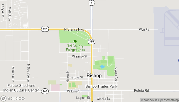 Map of 905 N Main St in Bishop