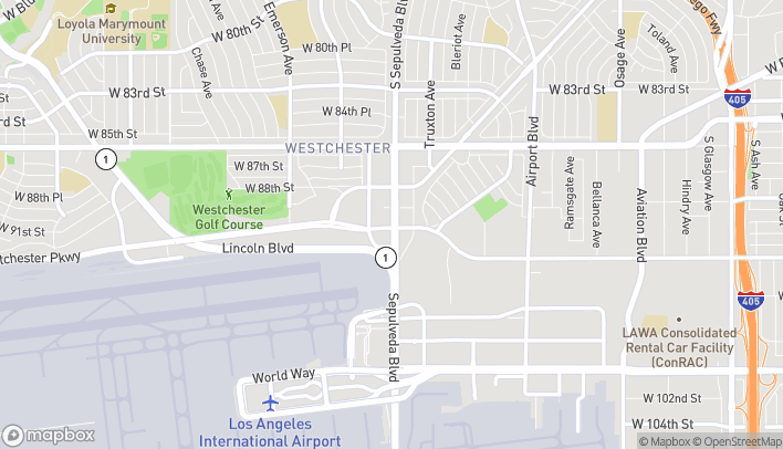 Map of 8949 S Sepulveda Blvd in Los Angeles