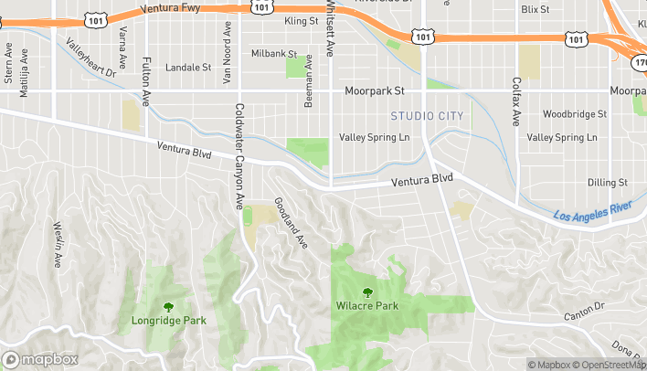 Map of 12511 Ventura Blvd in Studio City