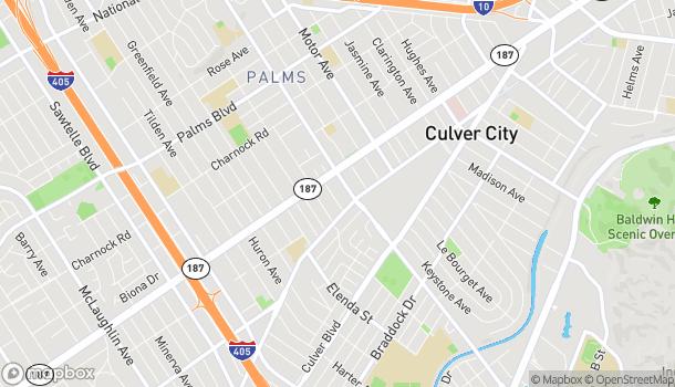 Mapa de 3851 Overland Ave en Culver City