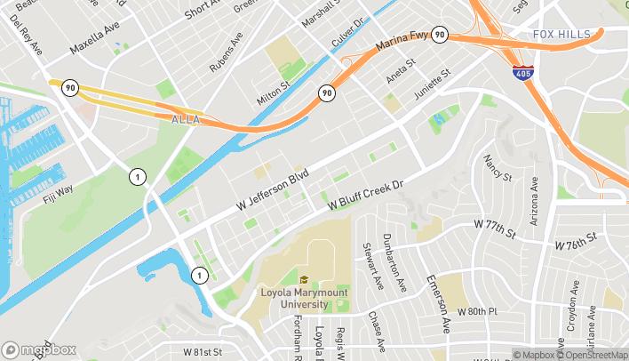 Map of 12746 Jefferson Blvd in Playa Vista
