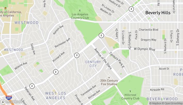 Map of 10250 Santa Monica Blvd in Los Angeles