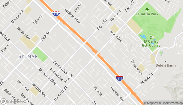 Map of 13679 Foothill Blvd in Sylmar