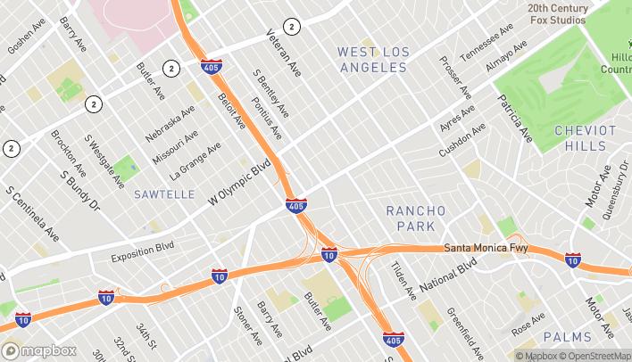 Mapa de 2333 S Sepulveda Blvd en Los Angeles