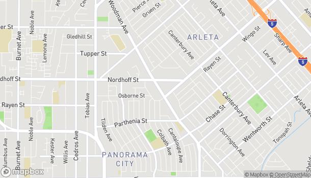 Mapa de 9055 Woodman Ave en Arleta