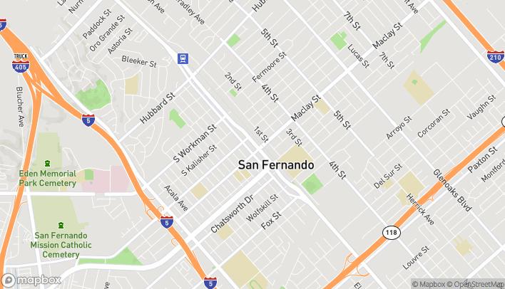 Mapa de 1120 Truman St en San Fernando