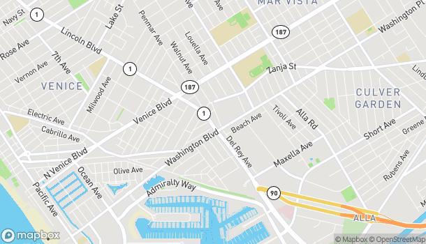 Mapa de 2540 Lincoln Blvd en Venice