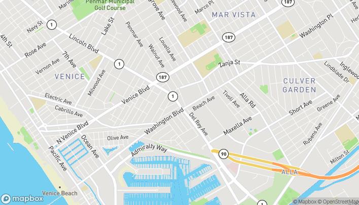 Map of 2540 Lincoln Blvd in Venice