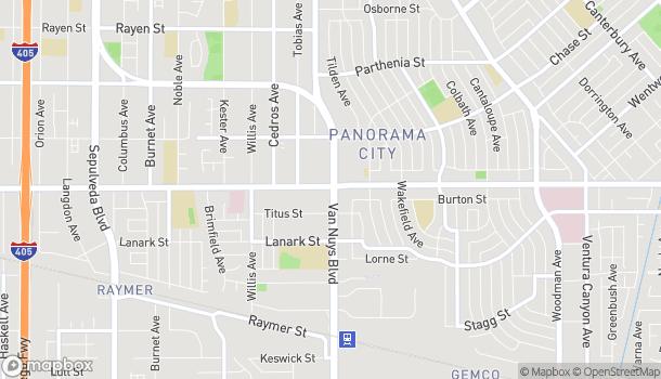 Mapa de 14500 Roscoe Boulevard en Panorama City