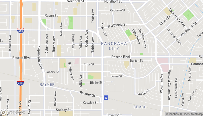 Map of 14500 Roscoe Boulevard in Panorama City