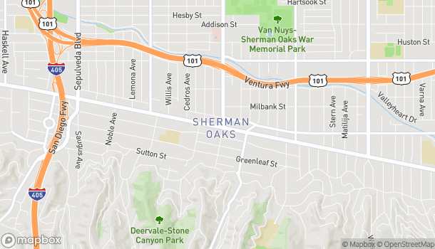 Mapa de 14513 Ventura Blvd en Sherman Oaks