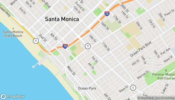 Mapa de 1902A Lincoln Blvd en Santa Monica